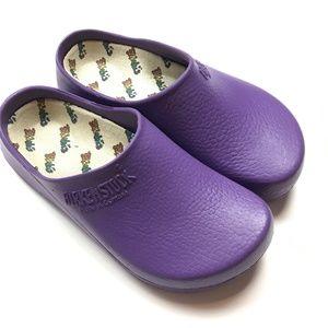 Birkenstock Ges Gesch Purple Rubber Mule Clogs 9